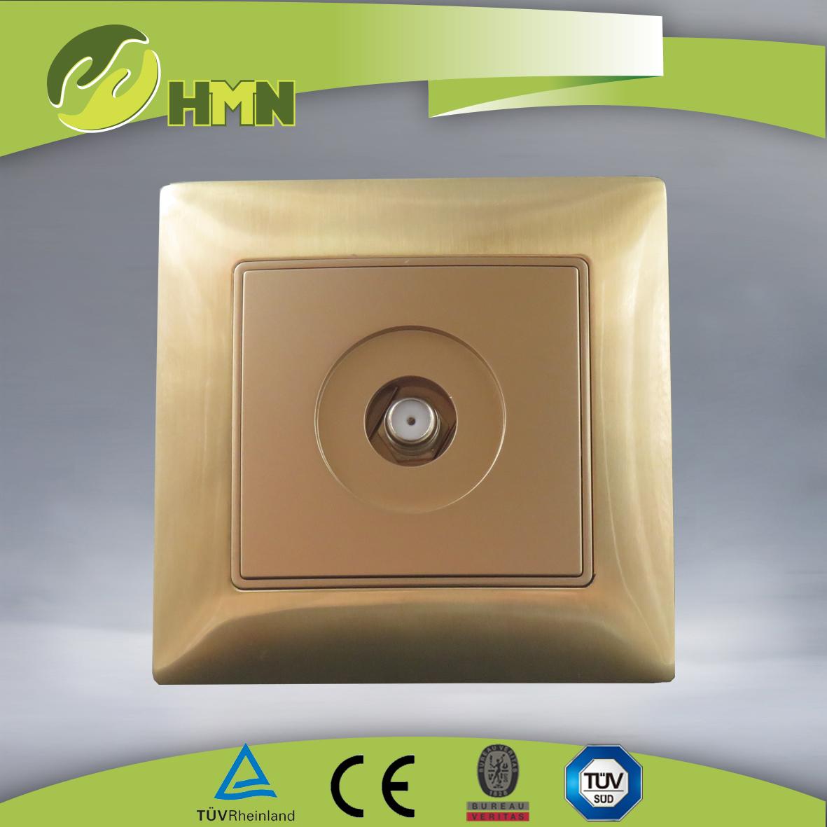 VZ126 Metal Zinc 1gang Satellite  socket