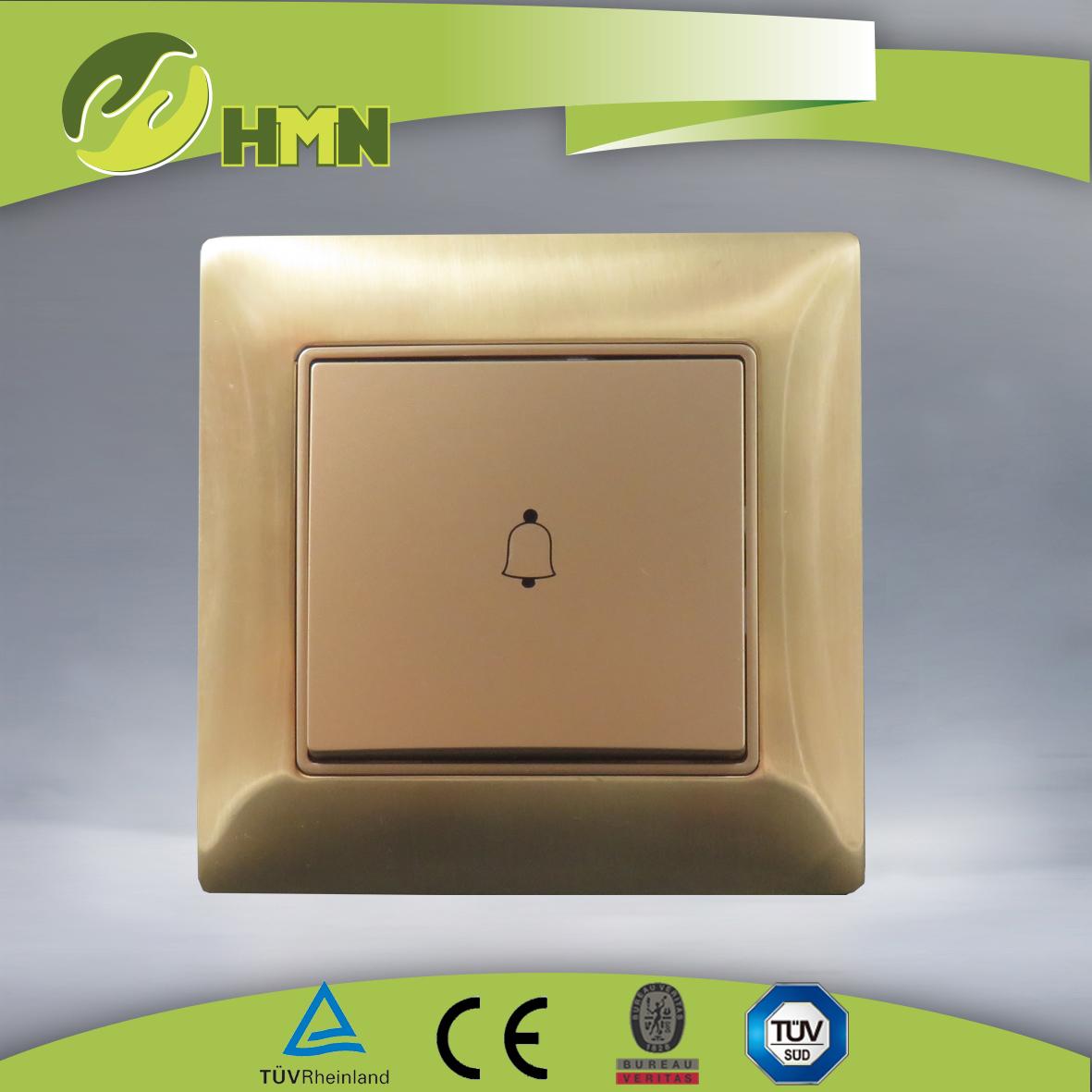 VZ110  Metal  zinc 1gang bell push switch