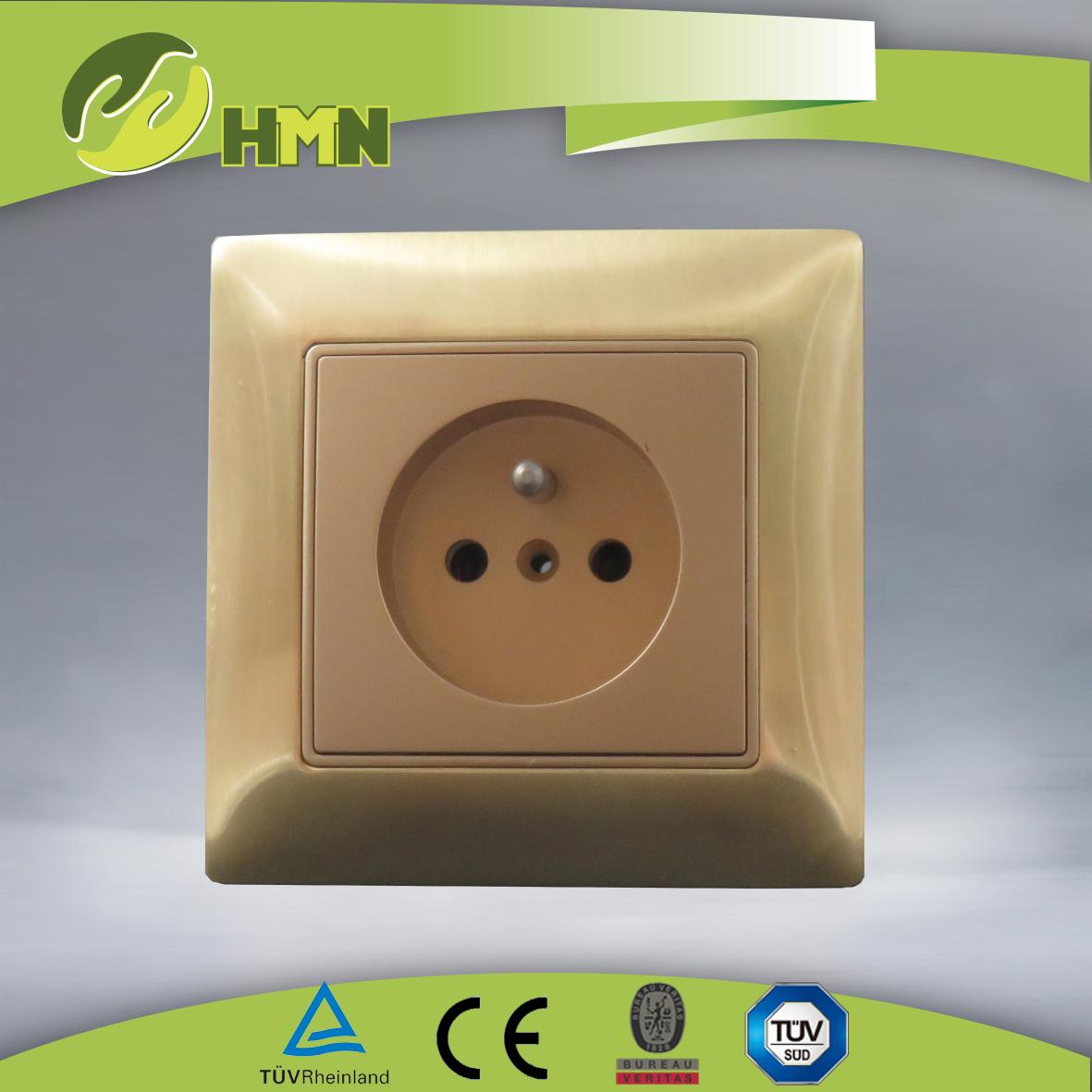 VZ139 Metal Zinc 1gang French socket