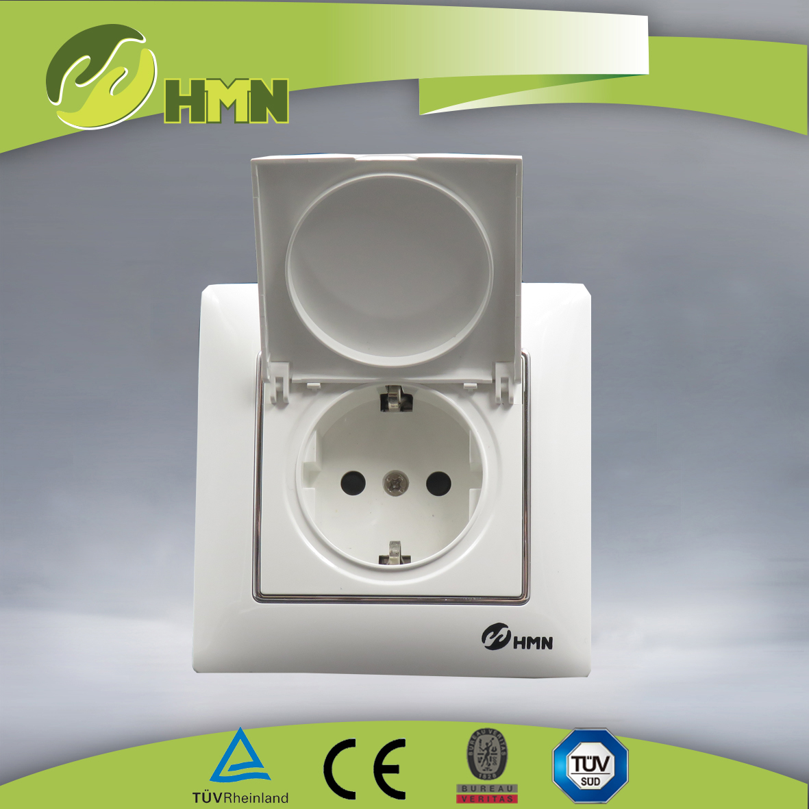 VC159 1 gang dust cover schuko socket