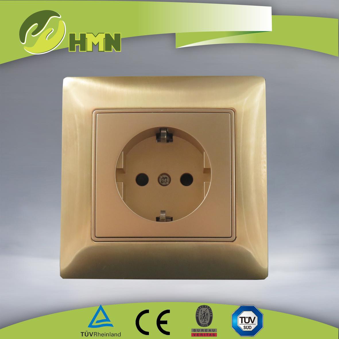 VZ149 Metal Zinc 1gang Schuko socket
