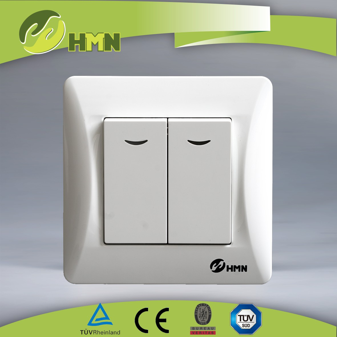 H121N/H122N   2 gang 1 way/2 way switch  W/N